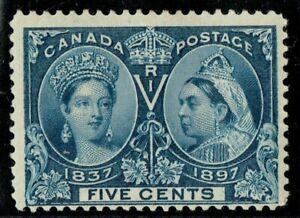 Canada 1897 Jubilee 5c Deep Blue SG128 Super Deep Colour Fine L/M/M Cat. £55.00+