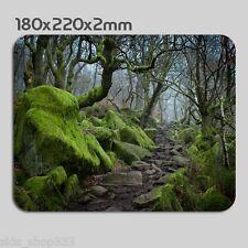 Landscape scenery Green Rock Path  Anti slip COMPUTER MOUSE PAD 9 X 7inch