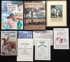 Ron Edwards Bush Ballads Heritage in Song Poetry Overlander Australian 9 Books