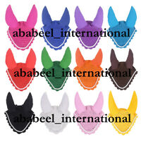 Horse Flyveil Breathable Cotton Ear Bonnet/Mask/Net/Crochet Flyveil