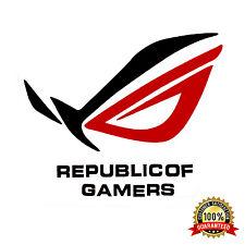 NEW ASUS ROG REPUBLIC OF GAMERS CASE BADGE METAL DIE-CUT STICKER DIY MODS