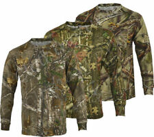 Camouflage Long Sleeve Loose Fit Big & Tall T-Shirts for Men