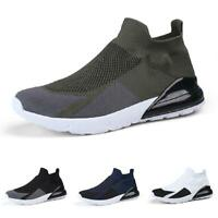 Mens Fashion Sneakers Shoes Trainer Mesh Breathable Knitting Sports Running 46 B
