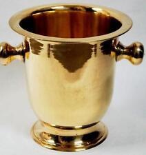 "SOLID BRASS Decorative Cup Urn Vase ICE BUCKET WINE COOLER 10"" Home Bar DECOR"