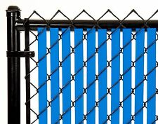 Chain Link Royal Blue Double Wall Tube™Privacy Slat 10ft High Fence Bottom Lock