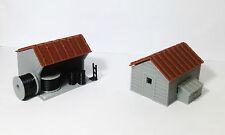Outland Models Train Railway Layout Trackside House Equipment Shed Set HO Scale