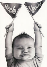 Baby Heck Yeah Avanti Humorous Funny Congratulations Card