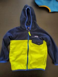 Patagonia Toddler 2T Fleece Jacket Blue, green