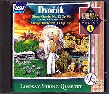 THE LINDSAYS DVORAK String Quartet 12 13 American Lindsay Streichquartett ASV CD