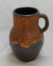 Brown orange retro West Germany lava jug 425-21 - 20.5cm