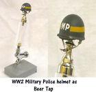 1/6 scale ww2 US Army MP  helmet as beer tap