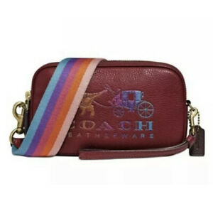 ❤️ Coach Rexy and Carriage Sadie Deep Red/Gold Crossbody