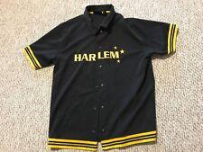 Asphalt Embroidered Harlem Snap Button Thick Basketball Jersey Shirt Large L