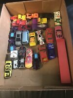 Lot of 24 Random Cars Loose Hot Wheels, Matchbox, Plastic And Metal Some Vintage