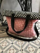 Large Shopping Bag, Shopper, Beach Bag, Handbag, Shoulder Bag Red-Black