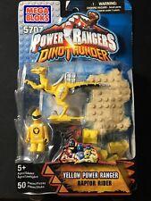 Mega Bloks Power Rangers Dino Thunder  Yellow Ranger Set New Raptor Rider 5707