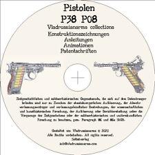 P08 Luger. P38 Walther Historische Konstruktionszeichnungen Drawings  Info CD