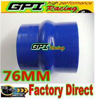 SILICONE HOSE STRAIGHT HUMP Trobo 3 INCH 76MM TURBO INTERCOOLER Coupler PIPE