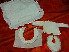 lot 3piéces vintage  faits main pour poupée ,poupon +housse de coussin offerte