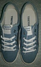New W/Box womens Tretorn wtBLAIRE sneaker shoe sz 4 Denim & DarkBlue *SHIPS FREE