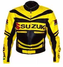 SUZUKI GSXR Motorcycle Leather Jacket Mens Racing Motorbike Leather Jackets