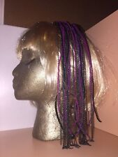 MAISON MICHEL RARE & UNIQUE HEADBAND GLAM HAIR COMB OF BEADED STRANDS & CHAINS !