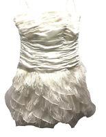 Dress Barn db Studio size XL 14 White Cocktail Dress Strapless Wedding Prom
