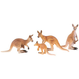 Simulation Animal Statue Model Kangaroo Miniatures for Home Office Ornaments