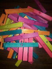 100 Large 4''x 1/2'' x 1/4'' Wood Bird Toy Parts 1/4'' hole