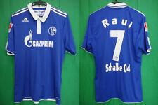2010-2012 Schalke 04 Jersey Shirt Trikot Home Gazprom Adidas Raul Gonzalez #7 L