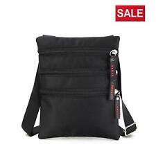New Unisex Messenger Bag Small Cross Body Shoulder Utility Travel Work Bag Black