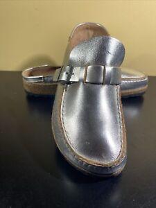 Birkenstock Buckley Metallic Adjustable Slip On Shoes Size 39 US 8