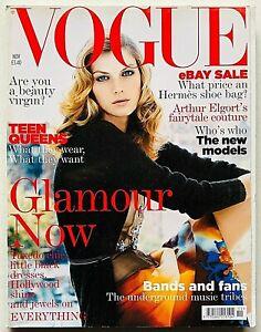 Vogue UK British magazine november 2004 novembre Angela Lindvall Arthur Elgort