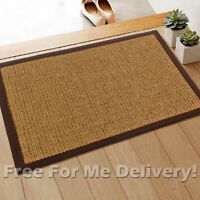 TEMPO NATURAL SISAL BOUCLE WEAVE FLOOR RUG MAT (XXS) 40x60cm **FREE DELIVERY**