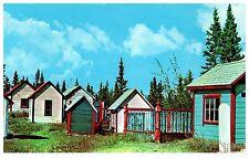 INDIAN GRAVEYARD ON ALASKA HIGHWAY AT CHAMPAGNE YUKON CANADA POSTCARD COND: VG