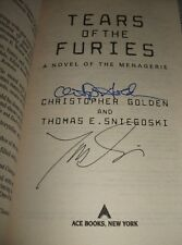 Tears of the Furies by Golden and Sniegoski  Signed by Both Authors 2005 1st Ed.