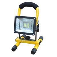 30W 24 LED Fluter Außen Strahler Arbeitsleuchte Flutlicht IP65 Handlampe AKKU