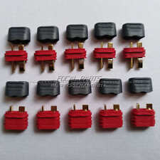 5 Pairs T Plug Deans Connector Sheath Housing Male + Female for RC Battery B134