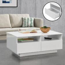 Couchtisch Tisch Beistelltisch Wohnzimmertisch Sofatisch Staufach Schublade Weiß