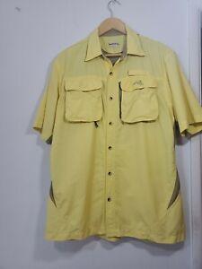 Natural Gear Men's Medium Shirt Vented Yellow Outdoor Fishing Hiking Camping