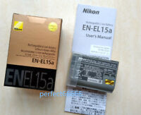 Original Nikon EN-EL15A Battery for D850 D7500 D750 D810 D7200 D7000 D7100 V1