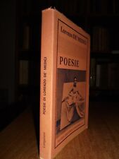 POESIE  -  De' Medici Lorenzo  -  1953