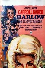 HARLOW Belgian movie poster CARROLL BAKER 1965 RAY ELSEVIERS Art