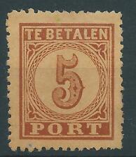1881TG Nederland Portzegel  P1 postfris net zegel zie foto's.