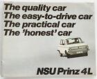 1970 1971 NSU Audi Prinz4L Prinz 4L 12-page Original Car Brochure Catalog