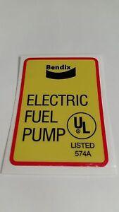 Bendix High Quality Fuel pump sticker