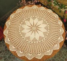 Gracebuy Beige Cotton 24'' Round Handmade Crochet Lace TableCloth Doilies M10