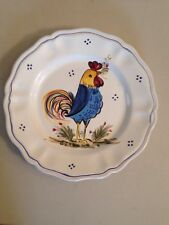 "11"" Decorative Plate Italy art pottery Deruta Rooster Dinner Plate"