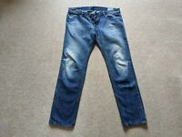 Mens Diesel Jeans 34 x 32 Darron 0814S Regular Slim Tapered New Authentic