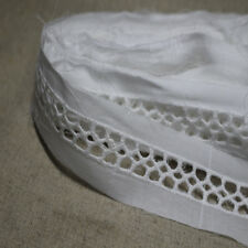 """14Yds Broderie Anglaise eyelet lace trim 1.4""""(3.6cm) white sh20 laceking2013"""